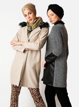 Cream - Unlined - Cotton - Topcoat