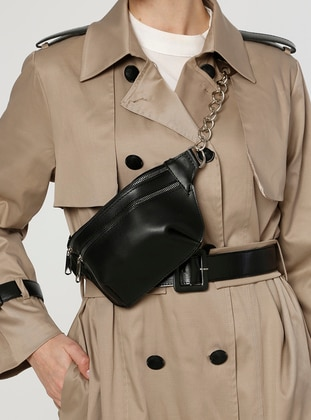 Black - Clutch - Bum Bag - MOON