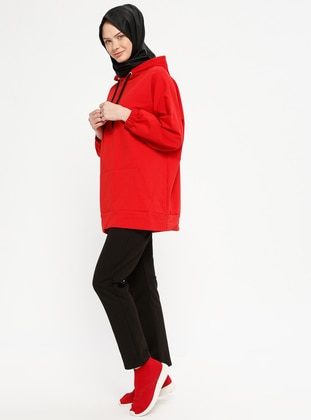 Black - Cotton - Tracksuit Bottom - Marwella
