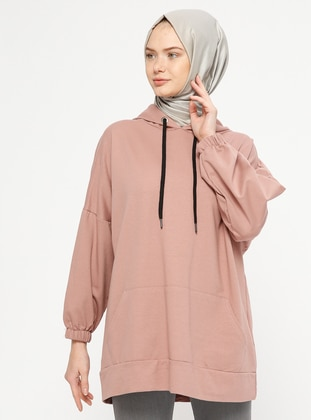 Dusty Rose - Cotton - Tracksuit Top - Marwella