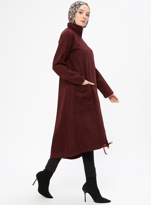 Maroon - Unlined - Point Collar - Topcoat