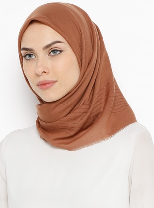 Tan - Plain - Scarf