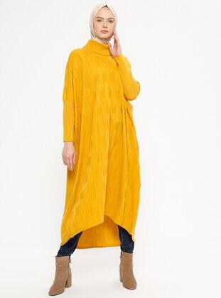 Mustard - Polo neck - Unlined - Acrylic -  - Jumper