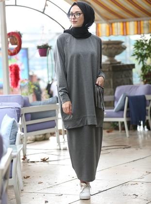 Smoke-coloured - Cotton - Suit