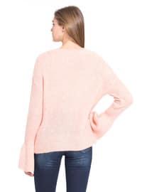 Pink - Crew neck - Jumper