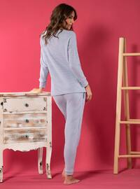 Lilac - Crew neck - Cotton - Pyjama