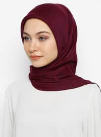 Plum - Cherry - Plain - Scarf