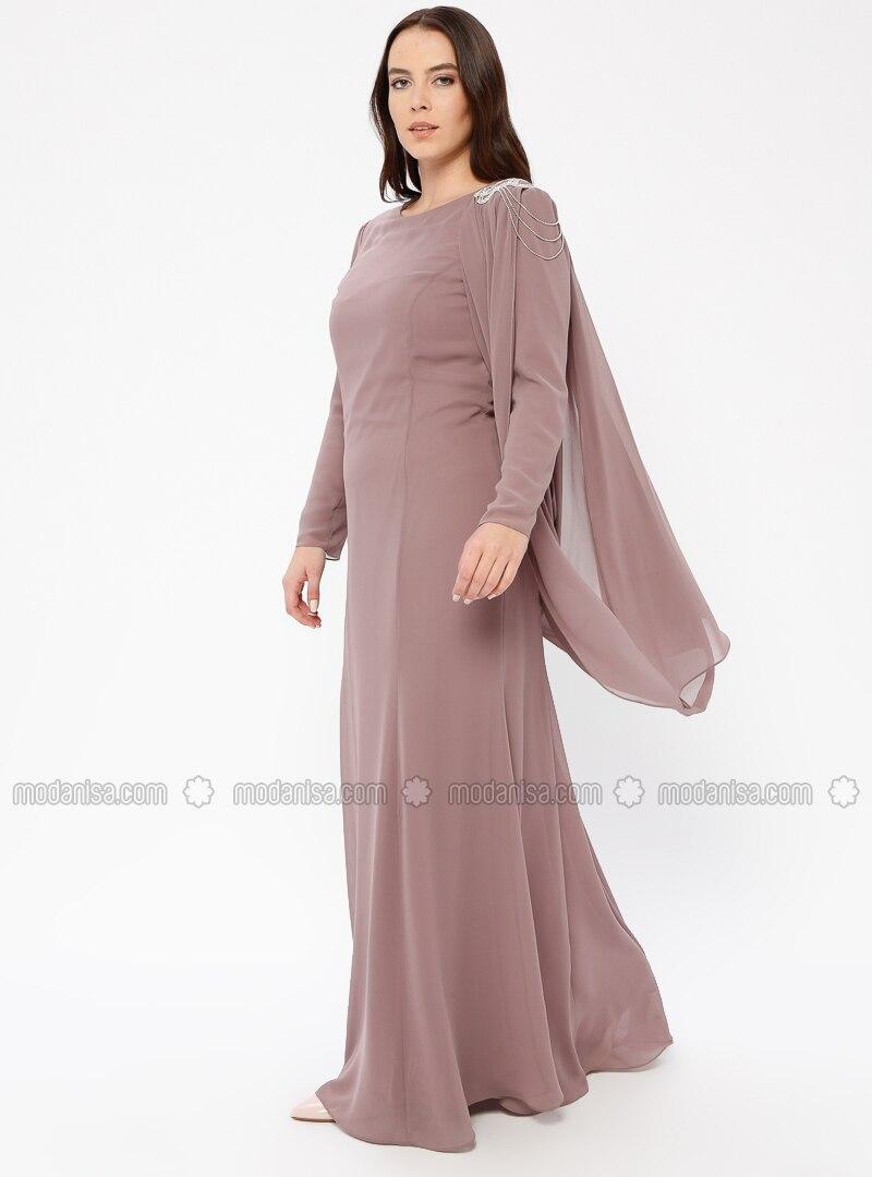 Minc - Fully Lined - Crew neck - Muslim Plus Size Evening Dress