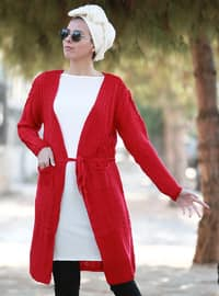 Red - Acrylic - Cardigan