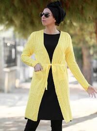Yellow - Acrylic - Cardigan