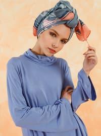 Baby Blue - Polo neck - Cotton - Tunic