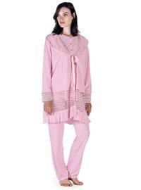 Powder - Crew neck - Cotton - Viscose - Pyjama