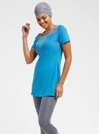 Turquoise - Unlined - Half Covered Switsuits