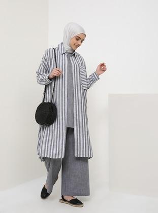 Gray - Cotton - Pants - Benin