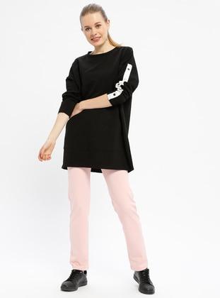 Pink - Cotton - Tracksuit Bottom
