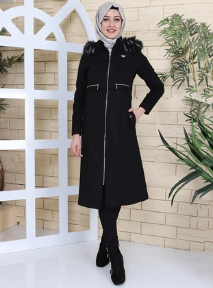 Black - Fully Lined - Coat