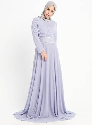 Lilac - Crew neck - Fully Lined - Dresses