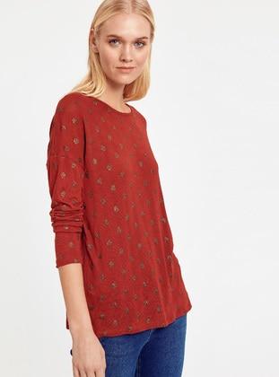 Tişört - Kırmızı - LC WAIKIKI Ürün Resmi