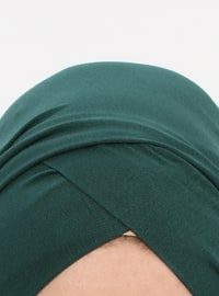 Emerald - Plain - Pinless - Instant Scarf