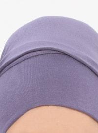 Purple - Plain - Pinless - Instant Scarf