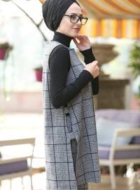 Black - Gray - Cotton - Suit