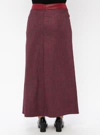 Purple - Multi - Fully Lined - Plus Size Skirt
