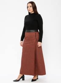 Terra Cotta - Multi - Fully Lined - Plus Size Skirt