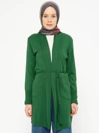 Green - Acrylic -  - Cardigan