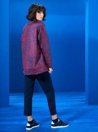 Polo neck - Multi - Navy Blue - Cherry - Sweat-shirt