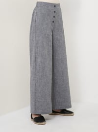 Gray - Cotton - Pants