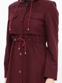 Plum - Fully Lined - Coat