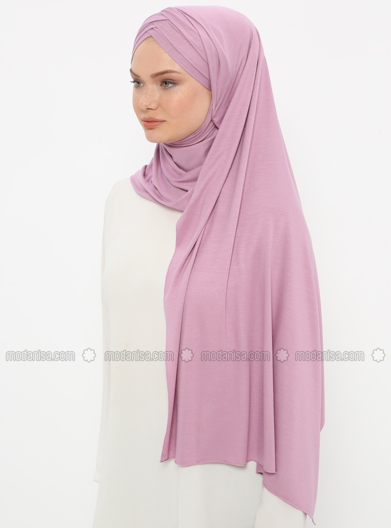 Purple - Lilac - Plain - Pinless - Instant Scarf