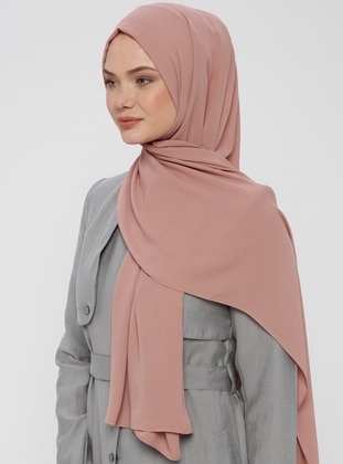 Dusty Rose - Plain - Crepe - Shawl - Mervin Şal