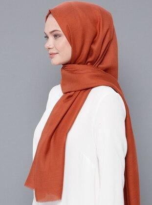 Tan - Plain - Wool Blend - Modal - Shawl