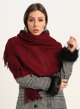 Red - Printed - Shawl Wrap