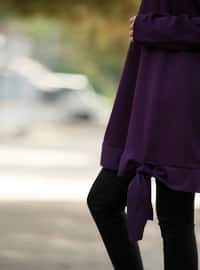 Purple - Crew neck - Tunic