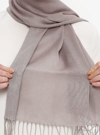 Gray - Plain - Pashmina - Shawl