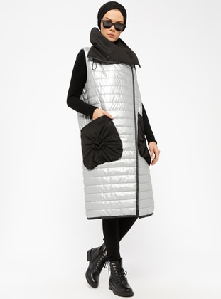 Silver tone - Fully Lined - Vest