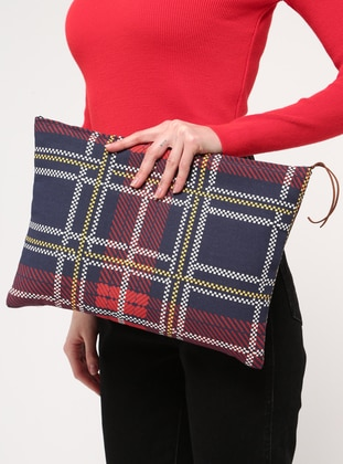 Red - Navy Blue - Clutch Bags / Handbags