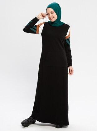 478f34a992a0b أسود - قبة مدورة - نسيج غير مبطن - فستان