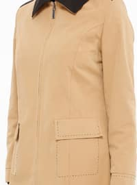 Camel - Fully Lined - Point Collar - Topcoat