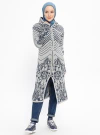 Gray - Multi - Acrylic -  - Cardigan