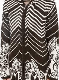 Brown - Multi - Acrylic -  - Cardigan