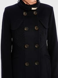 Navy Blue - Fully Lined - Polo neck - Topcoat