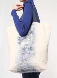 Beige - Indigo - Shoulder Bags