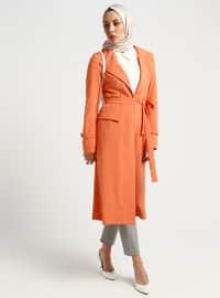 White - Orange - Ecru - Unlined - Viscose - Topcoat