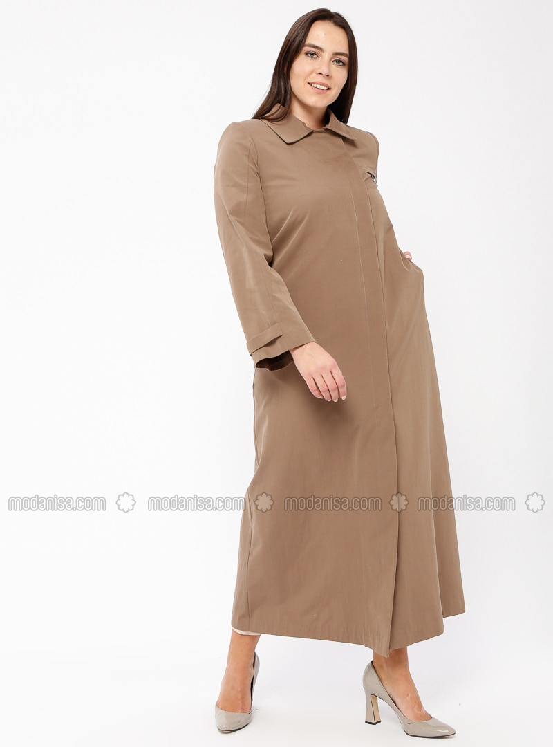 Minc - Fully Lined - Point Collar - Cotton - Plus Size Coat