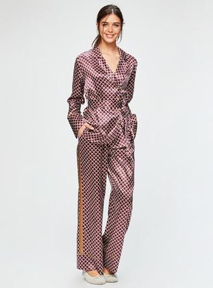 Cherry - V neck Collar - Multi - Pyjama