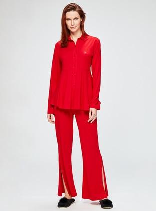 Red - Point Collar - Pyjama