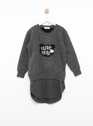 Gray - Crew neck - Kids Pijamas - DAGİ
